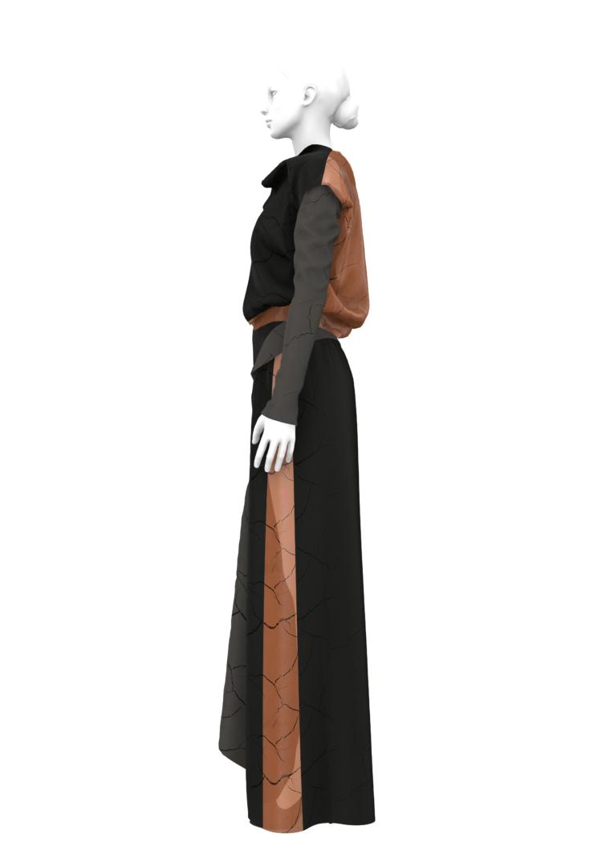 Комплект лекал: пальто, блуза и брюки.  В одном размере: XS, S, M, L, XL, XXl, XXXL  Размерная градация: +20% за размер  По индивидуальным меркам: +50%
